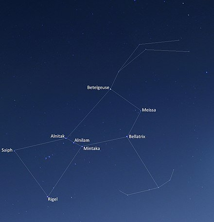 440px Orion constellation with star labels - curious