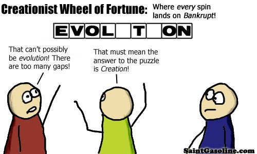 creationist wheel of misfortune - science