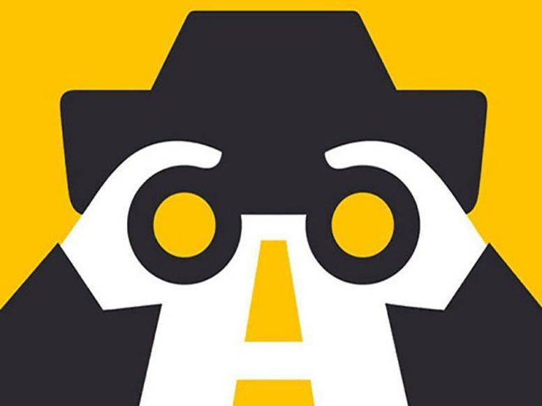 man car binocullars - curious