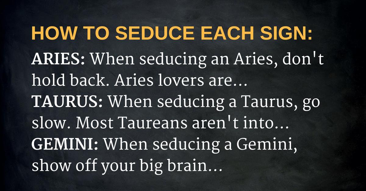 seduce - zodiac