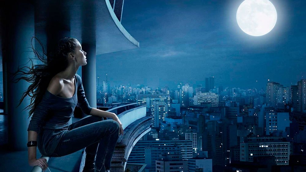girl moon night balcony city loneliness 3621 3840x2160 - relationships
